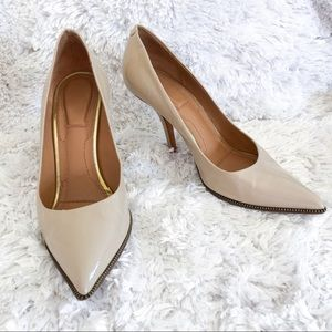 givenchy | nude heel zippered trim